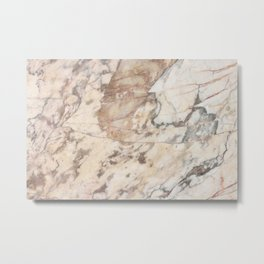 Polished Rose Marble Slab Metal Print