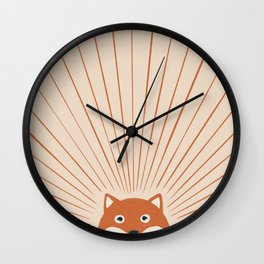 Good Morning Sun Foxy Wall Clock