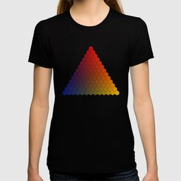 Lichtenberg-Mayer Colour Triangle variation, Remake using Mayers original idea of 12+1 chambers T-shirt