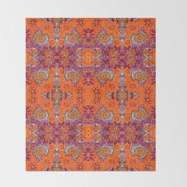 Boho Hippie Garden Pattern Throw Blanket