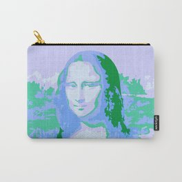Monna Lisa in Blue/Green Carry-All Pouch