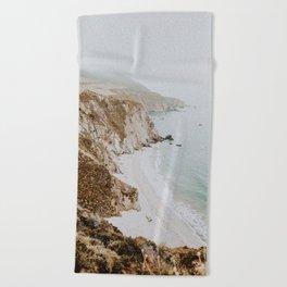 california coast v / big sur Beach Towel