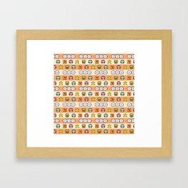 Pixel Game Retro (Orange) Framed Art Print