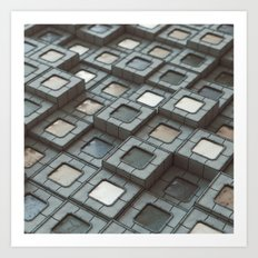 20160214   NOTHING BUT CUBES Art Print