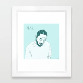 Damn. Kung Fu Kenny Framed Art Print