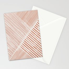 Blush Pink Stripes, Geometric Art Stationery Cards