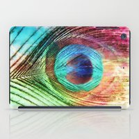 peacock feather iPad Cases featuring Peacock Feather by Klara Acel