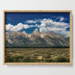 The Grand Tetons - Summer Mountains Serving Tray