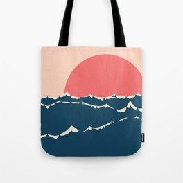 Sunset over sea minimalism Tote Bag