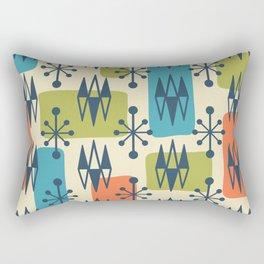 Mid Century Modern Abstract Atomic Diamonds 422 Rectangular Pillow