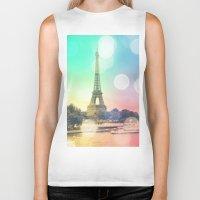 paris Biker Tanks featuring Paris. by WhimsyRomance&Fun