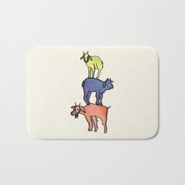 3 Billy Goats Up Bath Mat