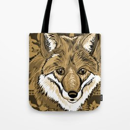 FOX Sketch Mono w/background Tote Bag