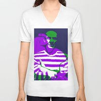 picasso V-neck T-shirts featuring Picasso by Art Pop Store