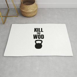 Kill the Wod - Motivational Poster for Crossfit Rug