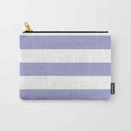 Blue bell - solid color - white stripes pattern Carry-All Pouch
