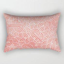 Peach echo and white swirls doodles Rectangular Pillow