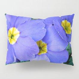 Blue Heartsease Flower Pillow Sham