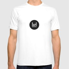 be! EXTRAVAGANT MEDIUM White Mens Fitted Tee
