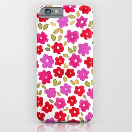 1990 Floral iPhone Case