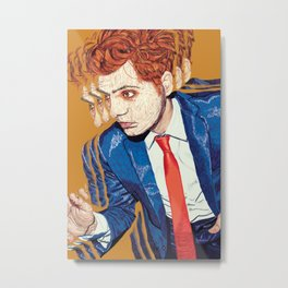 Gerard Way in Millions Metal Print