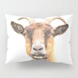 Goat Portrait Pillow Sham