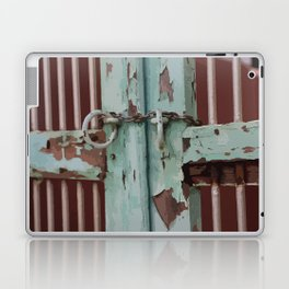 Closed Door Illustration with Chain Laptop & iPad Skin