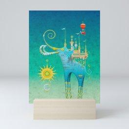 Castellini Elephantini Azure Mini Art Print