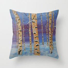 Winter Bliss Throw Pillow