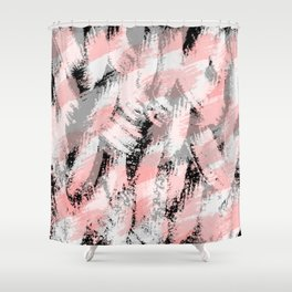 Abstract pink/black Shower Curtain