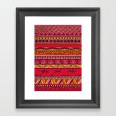 Yzor pattern 013 Summer Sunset Framed Art Print