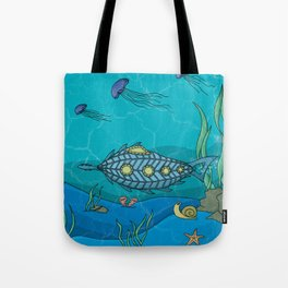 Nautilus under the sea Tote Bag