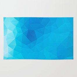 """Out of the blue"" geometric design Rug"
