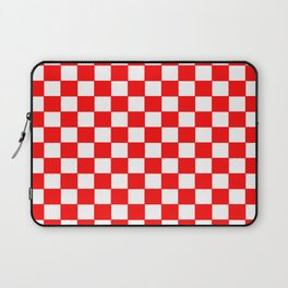 Checkers - Red and White Laptop Sleeve