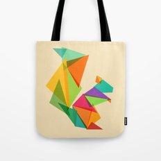 Fractal geometric Squirrel Tote Bag