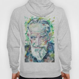 GEORGE BERNARD SHAW - watercolor portrait Hoody