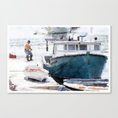 Lobster Boat Canvas Print
