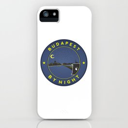 Budapest By Night, circle with frame iPhone Case