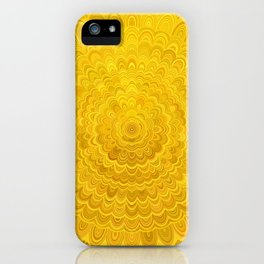 Golden Flower Mandala iPhone Case
