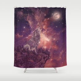 wolf and sky Shower Curtain