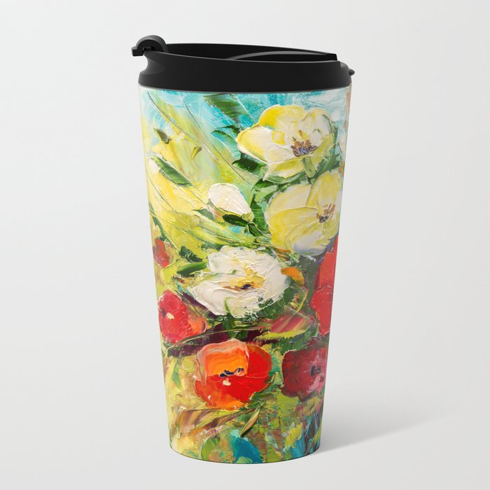 Bright bouquet Metal Travel Mug