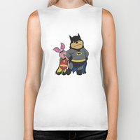 pooh Biker Tanks featuring Bat Pooh by thedoormouse