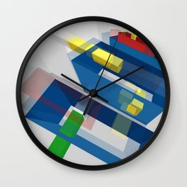 Geometry Ghosted 1 Wall Clock