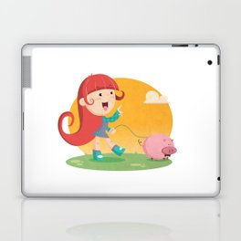 Lilly and Piggy Laptop & iPad Skin