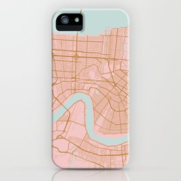 New Orleans map, Lousiana iPhone Case