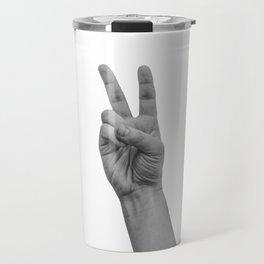 number two / peace Travel Mug