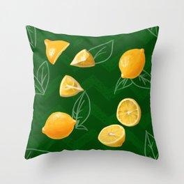 A Handful of Lemons Throw Pillow