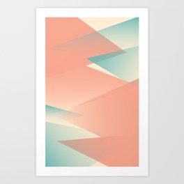 Pastel Peaks Art Print