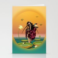 guardians Stationery Cards featuring GUARDIANS #1 by ANVIK
