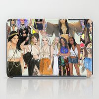 coachella iPad Cases featuring Coachella Girls by Sara Eshak